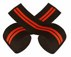 Premium Quality cross fit exercise Heavy Duty Pro Pair knee Wraps Black Red