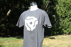 New 45 RPM Record Adapter Vintage DJ Style T-Shirt - CHARCOAL GREY