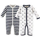 LUVABLE FRIENDS BABY 2 PACK COTTON SLEEP AND PLAY 0-3 3-6 6-9 MONTHS BOYS FOX
