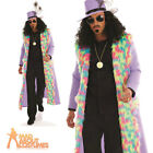 Adult Pimp Costume Mens Gangster Daddy Fancy Dress Outfit New