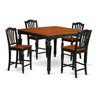 Chealsea 5 Pieces counter height Set- Square Table and 4 counter height chairs