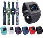 New Silicone Watch Band Wrist Strap + Holder For Fitbit Blaze Smart Tracker