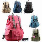 Large Classic Canvas Backpack School Student Bag College Rucksack Handbag