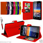 Leather Wallet Flip Mobile Phone Case Cover For Vodafone Smart 4 Mini