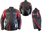 Motorbike Men Waterproof CE Professional Cordura Long Textile Red Black Jacket