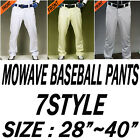 Mowave baseball softball solid athletic trainning 7style white ivory gray pants