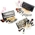Fraulein 3°8 12teilig Holz Make up Lidschatten Pinsel Brush Set mit Kometik