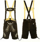 RIDEX Mens Oktoberfest Bavarian Leather Short LEDERHOSEN + Matching Suspenders