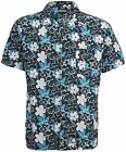 Mens TRESPASS CLUBBIE Hawaiian Beach Surf Shirt Blue or Red Size XS-XXL