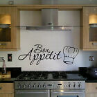 BON APPETIT FAMILY KITCHEN WALL ART STICKER QUOTE WORDS CHEFS HAT HOME DECOR