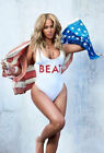 Women BEAT Letter Print Beyonce Fashion Sexy Swimwear Jumpsuit Bodysuit White