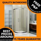 900mm Corner Quadrant Glass Shower Enclosure Cubicle Sliding Door Easy Clean