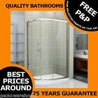 1200x800mm Walk In Quadrant Shower Enclosure Cubicle Glass Door Stone Resin Tray