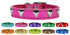 Heart Metallic Leather Dog Collar - Variety of Sizes