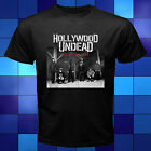Hollywood Undead HU Day of The Dead Rap Rock Band Black T-Shirt Size S to 3XL
