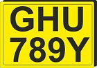 REAR NUMBER PLATE style FRIDGE MAGNET personalised gift Car Motorcycle plates