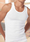 ClassicTraditional Mens White Vest Singlet 100% Brushed Cotton Sizes Med - 5XL