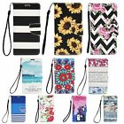 For LG/ Apple/ Samsung Galaxy Phones Hybrid Leather Wallet Flip Case Card Cover