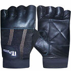Leather Weight Lifting Gloves Gym Exercise Training Fitness Body Building Gloves