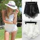 Fashion Women Girl Elastic Casual Shorts High Waist Lace Short Pants One Size