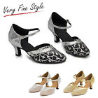 New Women Latin Dance Shoe Tango Dancing Salsa Shoes Pumps Gold Black Sliver