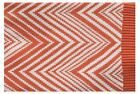 New In 2 Linen Jackson Chevron Knitted Throw Rug / Blanket Cotton Acrylic