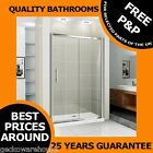 1700mm Walk In Sliding Shower Door Enclosure Glass Screen Cubicle Chrome
