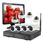 Home CCTV Wireless Security System with HDMI Monitor Select Camera Hard Drive