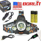 Rechargeable 13000lm Headlamp 3XXM-L T6+2R5 LED USB Headlight 2x18650 Battery US