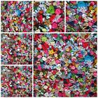 50 100 or 150 GREAT QUALITY RANDOM MIXED RESIN & WOODEN BUTTONS CRAFTING BUTTONS