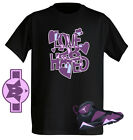 Love 2 B Hated Fuchsia Mulberry Tshirt great match with Air Jordan shoe Retro 7