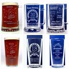 Personalised BIRTHDAY Pint Glass Gift For 18th/21st/30th/40th/50th/60th/70th