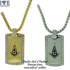 STAINLESS STEEL MASONIC PENDANT W/ ROLO BOX NECKLACE STP # 3203 BRAND NEW DTAG