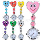 Useful Smile Face Heart Shape Nurse Clip On Fob Brooch Hanging Pocket Watch New
