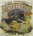 ALL AMERICAN OUTFITTERS TEAM WORK BOAR WILD HOG HUNTER HUNTING SHIRT #535-D