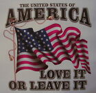 ALL AMERICAN OUTFITTERS LOVE IT OR  LEAVE IT UNITED STATES OF AMERICA SHIRT #883