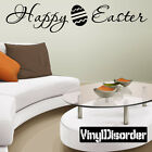 Happy Easter Holiday Vinyl Wall Decal Mural Quotes Words -hd007 $9.99 USD on eBay