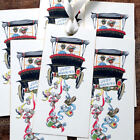 Hang Tags JUST MARRIED COUPLE IN CAR WEDDING FAVOR or WISH TAGS #210 Gift Tags
