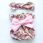 Girls Kid Toddler Baby Boutique Vintage Romper Shorts Headband Summer Outfit Set
