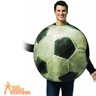 Adult Football Soccer Ball Costume Mens Novelty Sport Fancy Dress Outfit New
