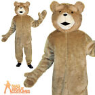 Adult Ted The Movie Costume Mens Jumpsuit Fancy Dress Outfit New