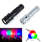3W Colorshine 10 Colors Changing RGB LED Flashlight Aluminium Alloy Torch Light