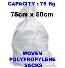 WHITE WOVEN HEAVY DUTY RUBBLE SACKS/BAGS BUILDERS BAGS POSTAL SUPERIOR QUALITY