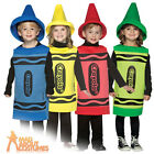Child Crayola Crayon Costume Boys Girls Novelty Fancy Dress Outfit New 3-4 Years