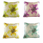 Anemone Filled Cushions, Cotton Linen mix, 43cm x 43cm in 4 colour ways