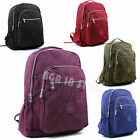 Ladies Light Weight Nylon Multi Pockets School College Backpack Rucksacks