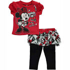 Minnie Mouse Baby Toddler Girl 2pc T-Shirt Tutu Skirt Pant Legging Dress Outfit