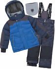 Deux par Deux Boys' 2-Piece Snowsuit Expedition #Brrr! Blue, Sizes 6-14