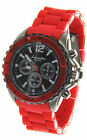 Big Bezel Fashion & Sport Style Rubber and Metal Band Big Watches Men;s