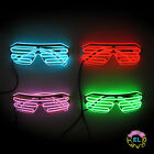 EL Glasses – Glowing Shutter Glasses in White with Choice of Drivers